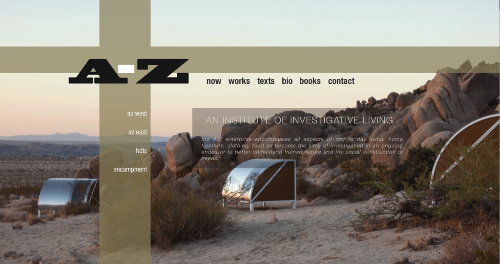 Andrea Zittel website home page